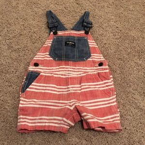 Red and blue overalls, 12M